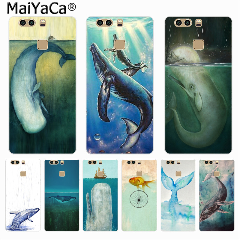 MaiYaCa Whale dolphin in the sea Colorful Phone Accessories Case for Huawei P6 7 8 9 10 P10plus for RedMi2 XiaoMi3 4 Redmi Note2