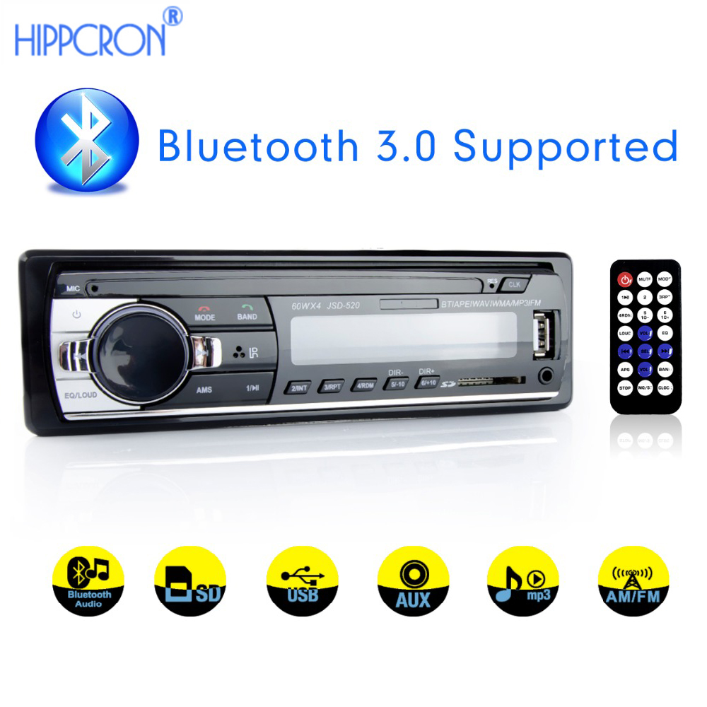 autoradio 1 din Car Radio bluetooth 12V car audio player mp3 60Wx4 FM Radio  Stereo Audio Music