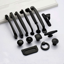Black Handles for Furniture Cabinet Knobs and Handles Kitchen Handles Drawer Knobs Cabinet Pulls Cupboard Handles Knobs cheap Woodworking Aluminum Furniture Handle Knob 128mm Modern cabinet handle drawer knobs furniture handle etc single 64mm 96mm 128mm 160mm 192mm 224mm