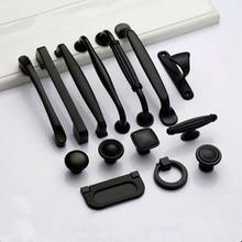 Manijas negras para muebles perillas y manijas de cocina tiradores de cajón tiradores de armario perillas