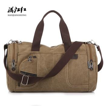 cb60fa39e48e Product Offer. Модная большая Вместительная дорожная сумка мужская холщовая  винтажная Ретро сумка на плечо ...