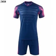 ZMSM Kids Adult Soccer Jerseys Set Survetement Football Kit Men Children Training Uniform Custom Short Sportswear M8608