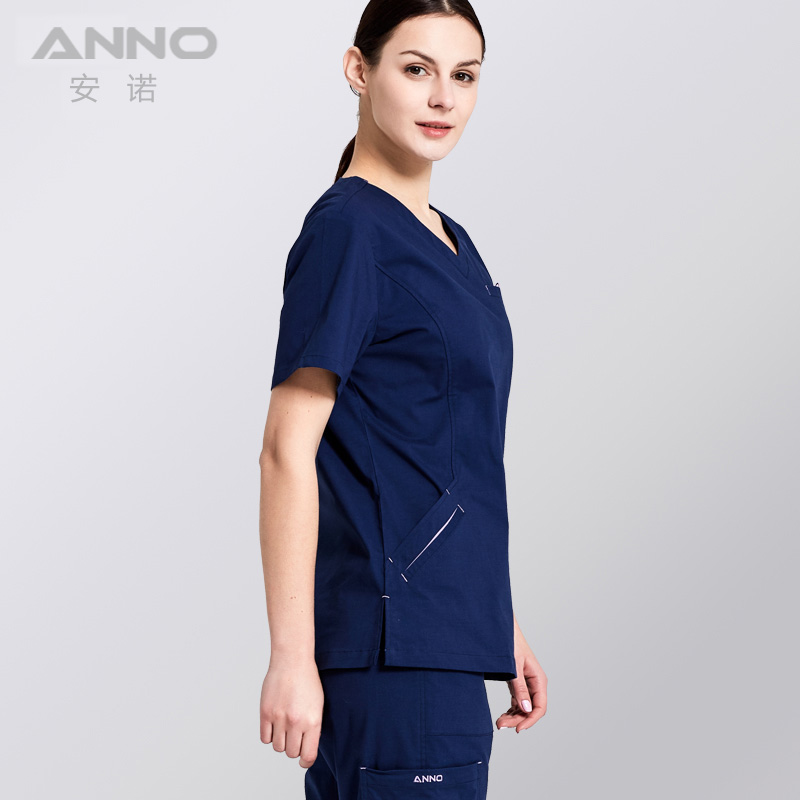 ANNO Elasticity Medical Scrub Set Nurse Uniforms Hospital clinic Work Wear Health and Beauty care Medical Clothes Surgical Suit in Scrub Sets from Novelty Special Use