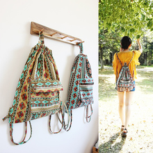 Оригинальный дизайн национальной дизайн холст рюкзаки старинные цветочный принт сумка мори девушка книга мешок новая коллекция
