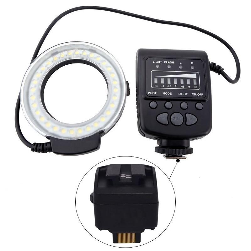 Mcoplus FC100 Macro Ring Flash LED Light + SH20 for Sony NEX-3 NEX-3D NEX-C3 NEX-5 NEX-5C NEX-5N NEX-5R 5RL 5RY NEX-5T 5TL 5TY