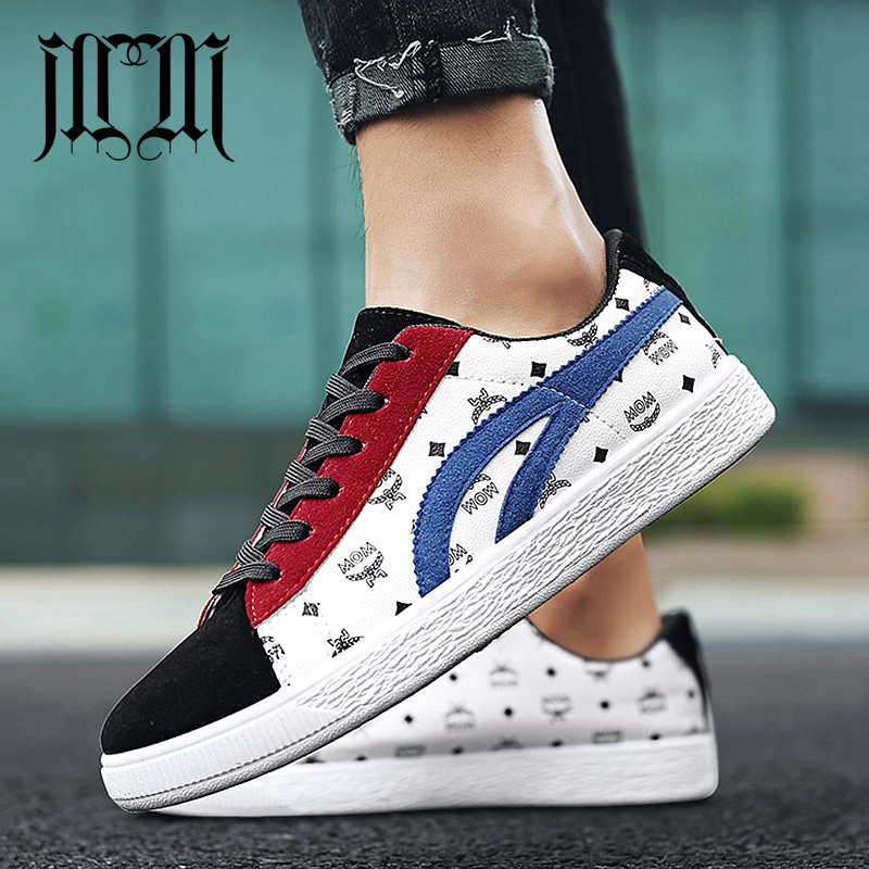 67edb867dcad MumuEli Navy Blue Red White Black 2019 High Quality Shoes Men Breathable  Casual Designer Fashion Luxury Flat Brand Sneakers 2222
