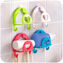 Kitchen Sucker Band Hook Sponge Storage Rack Suction Wall Plastic Sink Sundries Mounted Type Hooks4 Colors
