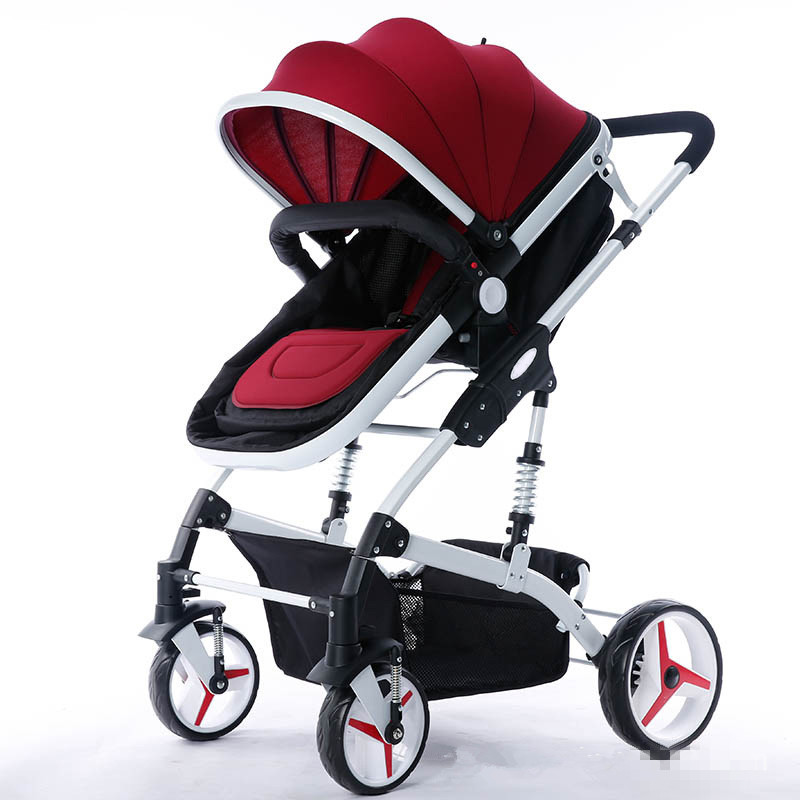 Baby stroller sit four wheel shock absorber folding two-way bb baby child baby stroller цена 2017