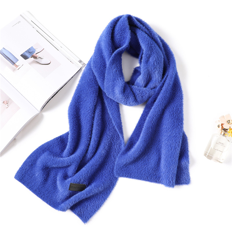 2019 fashion Women solid color cashmere Water velvet scarves tassel lady winter thick warm scarf high quality female shawl in Women 39 s Scarves from Apparel Accessories