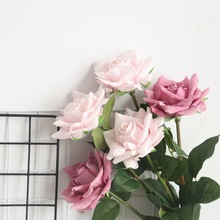 5pcs/lot 12cm Decor Rose Artificial Flowers Silk Floral Latex Real Touch Wedding Bouquet Home Party Design