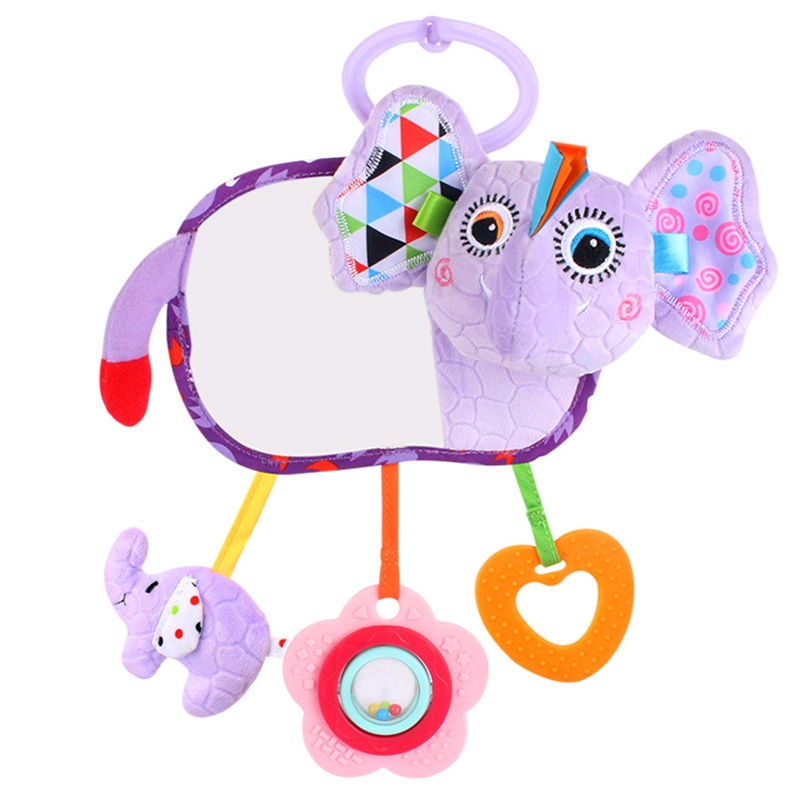 Mother & Kids Baby Stroller Pendant Plush Fish Cartoon Mirror Pacifier Hanging Bed Cute Toys Soft Squeaky Rattle Newborn Sleeping Infant Kids