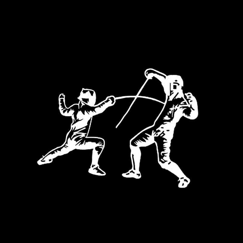 QYPF 14.5*10.8 CM Spor Eskrim Savaş Araba Sticker Vinil Siluet Aksesuarları Aşırı Hareketi C16-0982