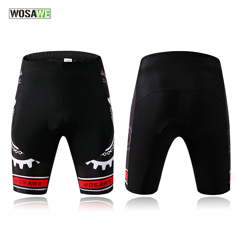 WOSAWE Men Cycling Shorts Black 4D Padded Gel Gear Pattern Short Bicycle MTB Bike Shorts Pantalones cortos de ciclismo S-2XL цена 2017