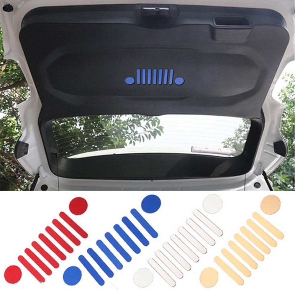 For Jeep Renegade 2015 2017 Aluminum Rear Trunk Storage Door Sticker Emblem Badge Decoration Cover Trim