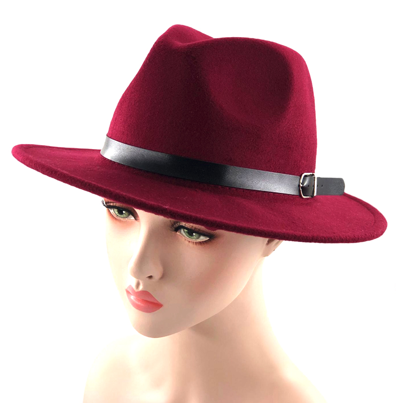 Detail Feedback Questions about simple Fedora Hat for Women Men Ladies Wool  Winter Belt Jazz Wide Brim Large Pink Cowboy Panama Hat on Aliexpress.com  ... bb795db2076a