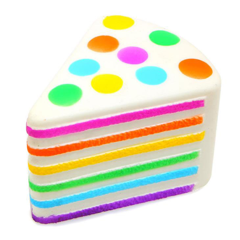 Jumbo Colorful Rainbow Cake Squishy Cream Scented Soft Squeeze Toys Slow Rising Stress Reliever Fun Collection For Kid Gift