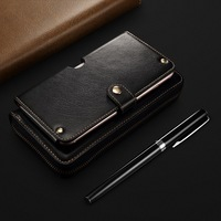 Genuine Leather Pouch For Samsung Galaxy S10 Plus Case Handbags Business Pouch Coque For Samsung S10e S8 S9 Plus Note 8 Case