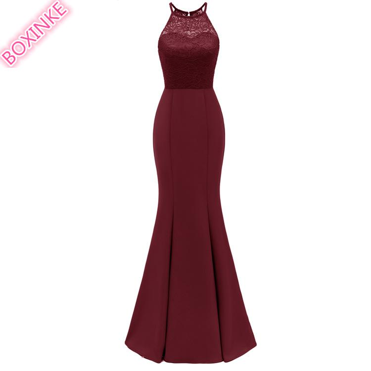 2019 vraie robe Zanzea Vadim commerce extérieur européen et américain nouvelles robes suspendues Sexy Banquet hôte dentelle couture longue