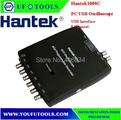 ФОТО Hantek 1008C Virtual USB Automotive Diagnostic Oscilloscope/8 Channel DAQ(Data acquisition card )Programmable signal Generator