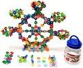 500 Peça Conjunto de Discos De Bloqueio de Plástico para Crianças Grandes Flocos de Cérebro Puzzle Brinquedo Venda Quente