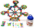 500 Piece Interlocking Plastic Disc Set Great Children Puzzle Toy Brain Flakes Hot Selling