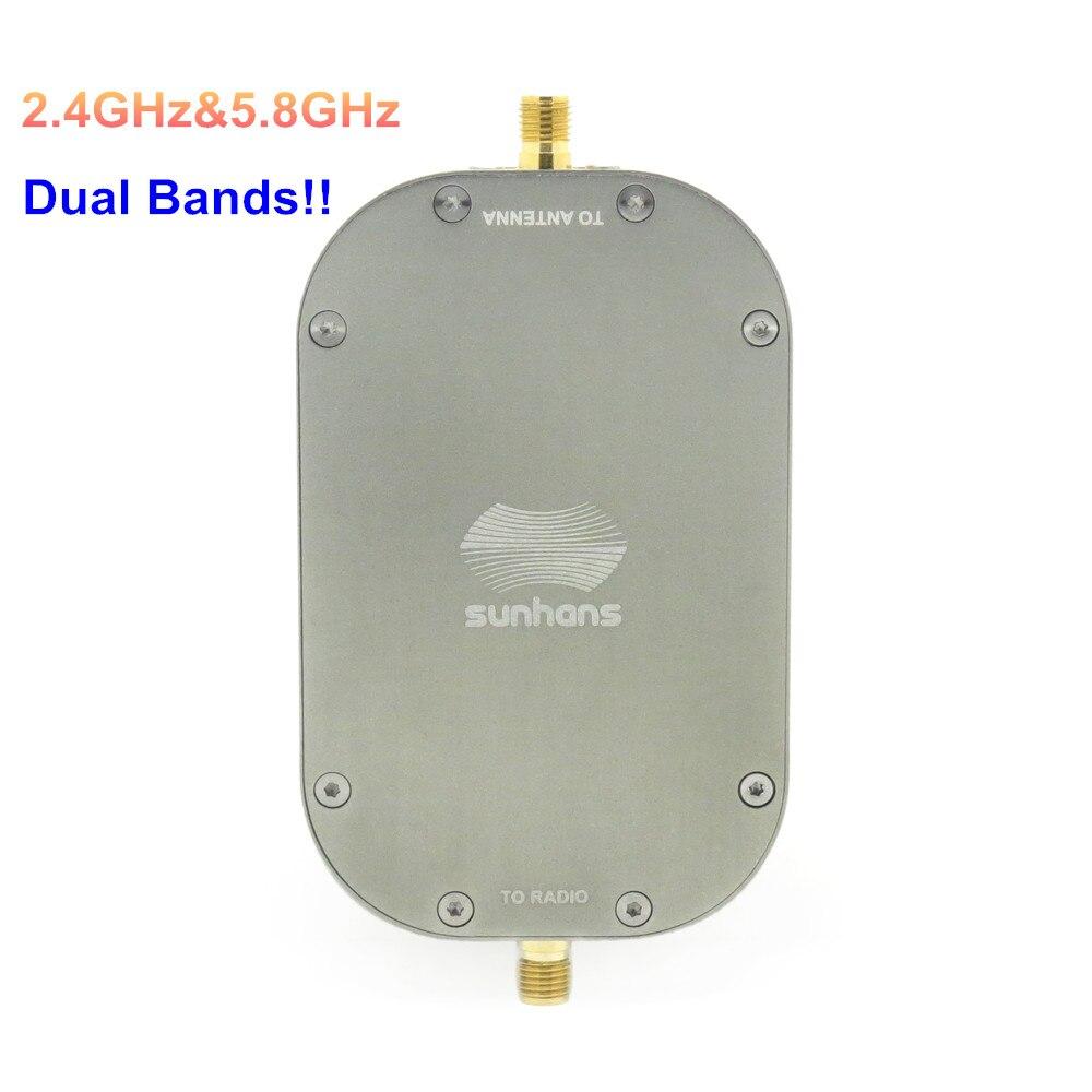 100% Origianl Sunhans ESunRC SH-RC5824G2WP 2000mW 33dBm 2.4GHz&5.8GHz Dual Band WiFi Signal Booster Wireless Amplifier