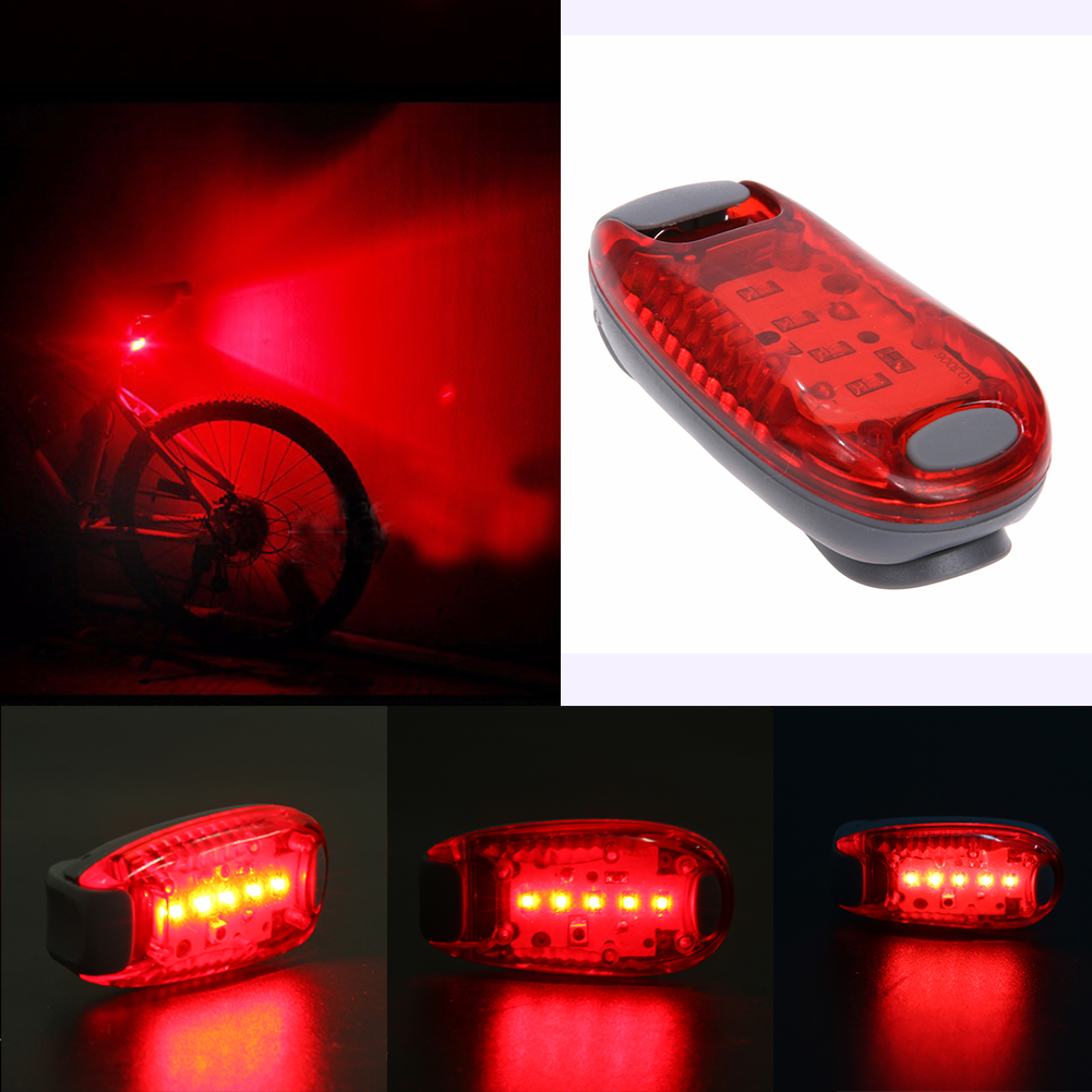 Portable 5 Led Usb Mtb Road Bike Tail Light Rechargeable