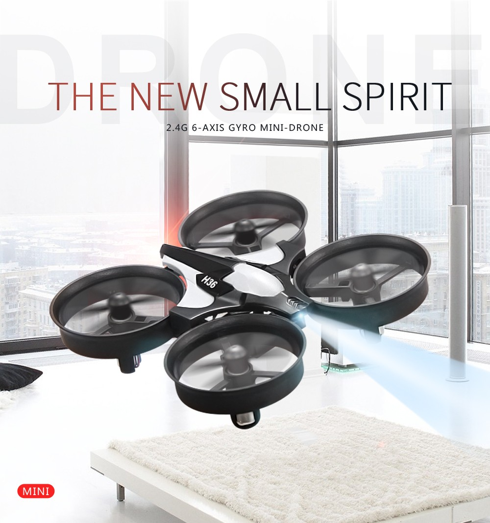 Newest Mini Drone JJRC H36 RC Micro Quadcopters 2.4G 6 Axis With Headless Mode One Key Return Helicopter Vs H8 Dron Best Toys 4