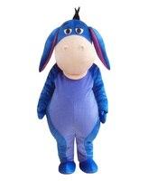 New adult Blue Eeyore Donkey Mascot Costume Bear Friend Donkey Halloween gift costume Ship to your Door