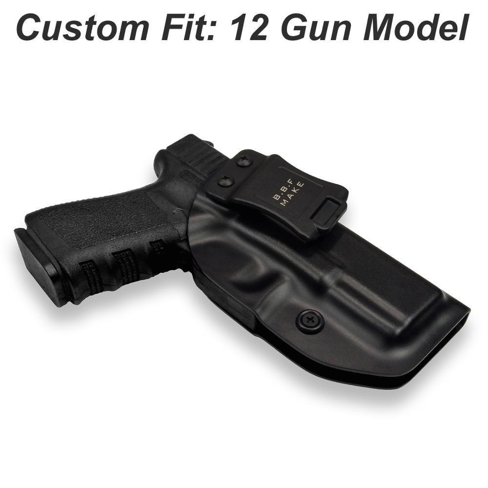 Pistolera de pistola IWB Glock 19 Glock 17 25 26 27 28 31 32 33 43 dentro de la correa de la pistola oculta