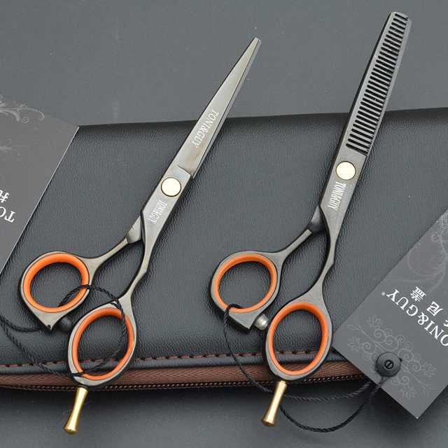 5.5inch Professional Creative Shears Dog Pet Grooming Scissors Barber Haircut Supplier Instruments Straight Thinning Scissor