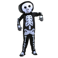 Scary And Lovely Boys Plush Skeleton Less Like Grim Reaper Rocking Halloween Party Costume With Soft