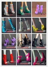 Latest eight pairs a package to sell genuine for Monster High school boy strange shoes high shoes boots(China)