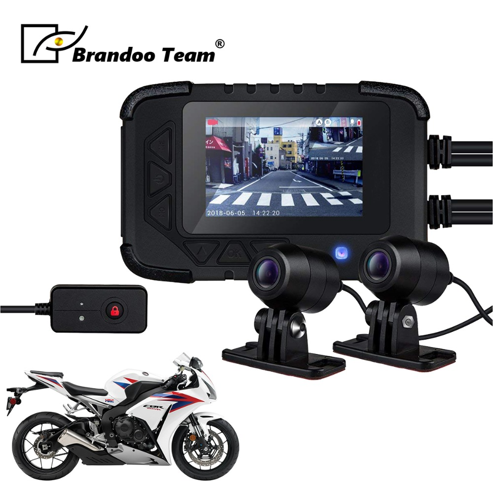 Motorcycle Camera DVR Motor Dash Cam with Dual Camera Front Rear Recorder Motorbike Electronics sintered copper motorcycle parts motorbike front