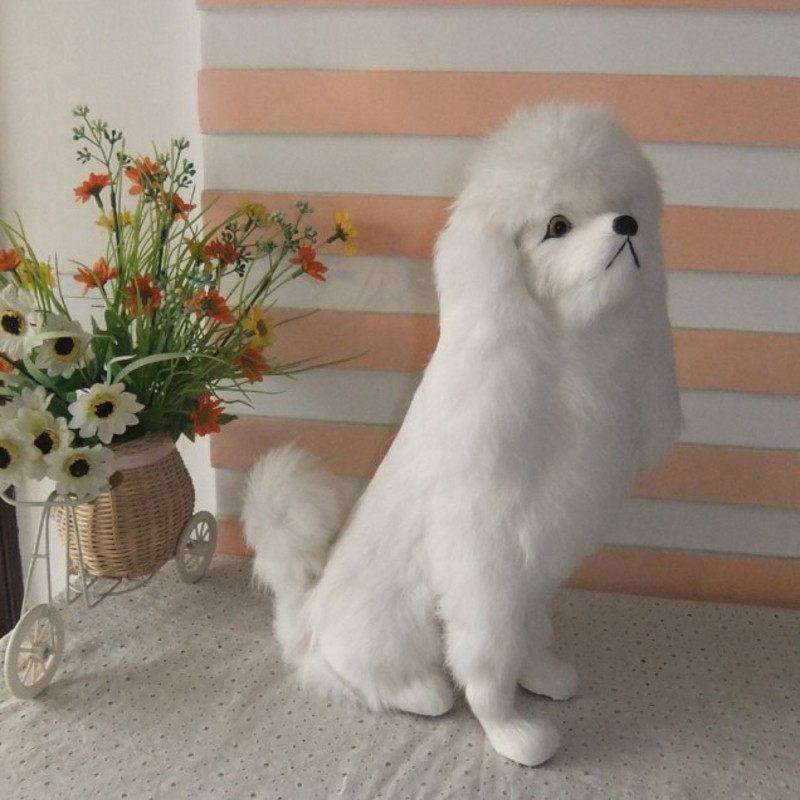 Big Size 33cm Kawaii Simulation Toy Poodle Plush Toys Soft Standing Version White Dog Stuffed Toy Dolls Kids Toys Gifts big size 33cm kawaii simulation toy poodle plush toys soft standing version white dog stuffed toy dolls kids toys gifts