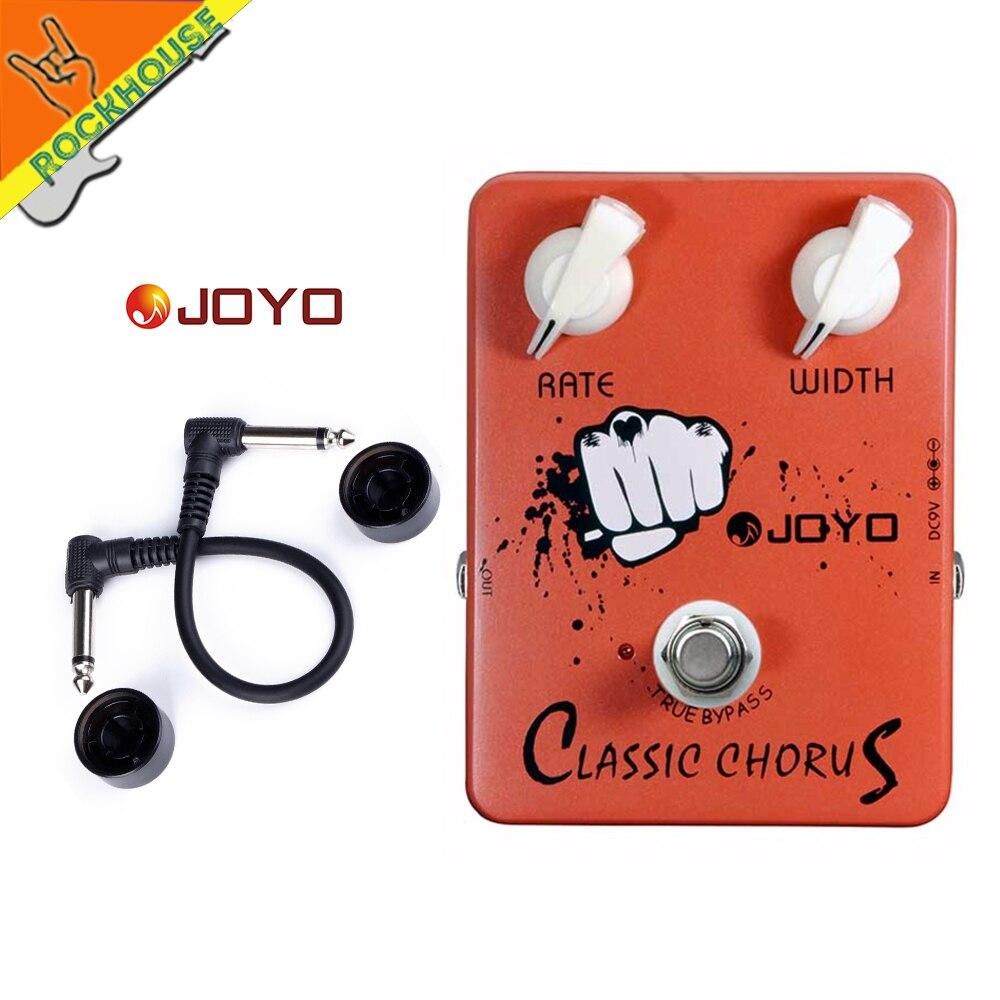 JOYO classique Chorus effets de guitare pédale Chorus effets pédale Stompbox corsé 12 cordes sons vrai contournement livraison gratuite