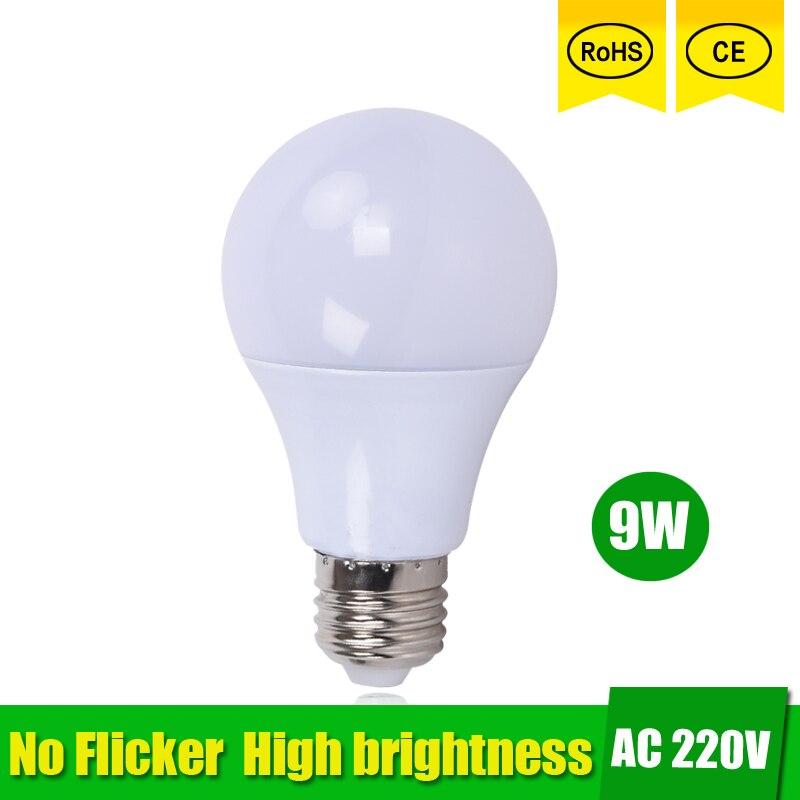 3pcs LED Bulb Lamp E27 9W led light 15W 220V 230v 240v Cold White/Warm White Lampada Ampoule Bombilla LED no flicker