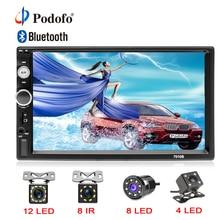 """Podofo 2din Autoradio 7 """"Schermo di Tocco di HD Display Digitale Bluetooth Multimedia MP5 Lettore USB 2 din Auto Radio Stereo monitor"""