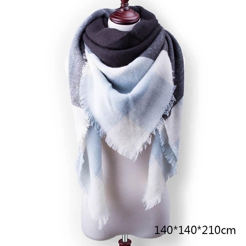 Горячая Распродажа, Модный зимний шарф, Женские повседневные шарфы, Дамское Клетчатое одеяло, кашемировый треугольный шарф,, Прямая поставка - Цвет: A1