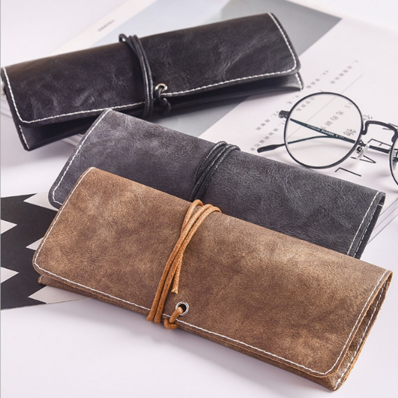 new faux leather glasses bag vintage protection glasses. Black Bedroom Furniture Sets. Home Design Ideas