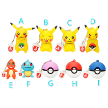 Classic USB Flash Drives 16GB 32GB 64GB Pokemon Pikachu Cartoon Pen Drive 4GB 8GB Pendrive 128GB Usb 2.0 Animal Memory Stick Hot