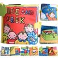 1PC Cartoon Animal Soft Baby Toy Cloth Book Plush Animal Story New Infant Kids Learning Education Unfolding Activity Books