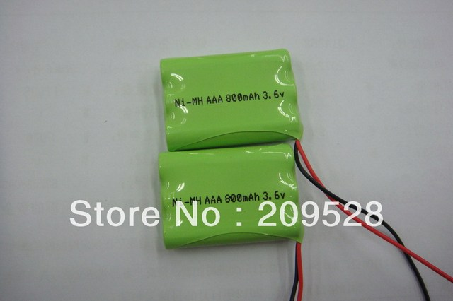 800mAH 3.6V AAA*3 NiMh rechargeable battery pack for phones,toys etc. ,20packs/lot
