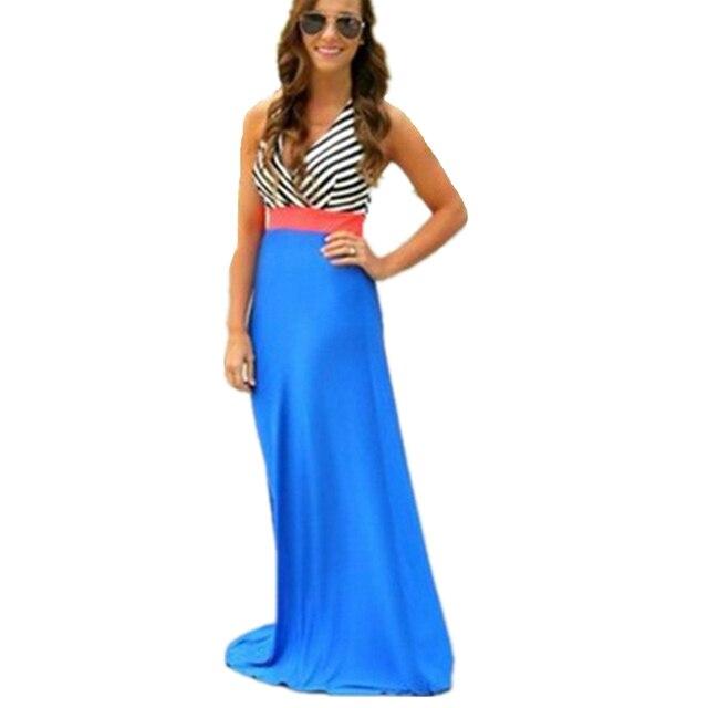 4fc7ddc5eed Strapless Beach Dress Boho Crochet Maxi Long Dresses Hollow Cut Out Halter  Neck Deep V Sexy Chiffon Sundress For Women Girls