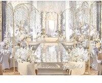 Свадебные хрустальные бусы на нитках Роскошная блестящая Рождественская елка Свадебная Центральная люстра украшение события включая бусы