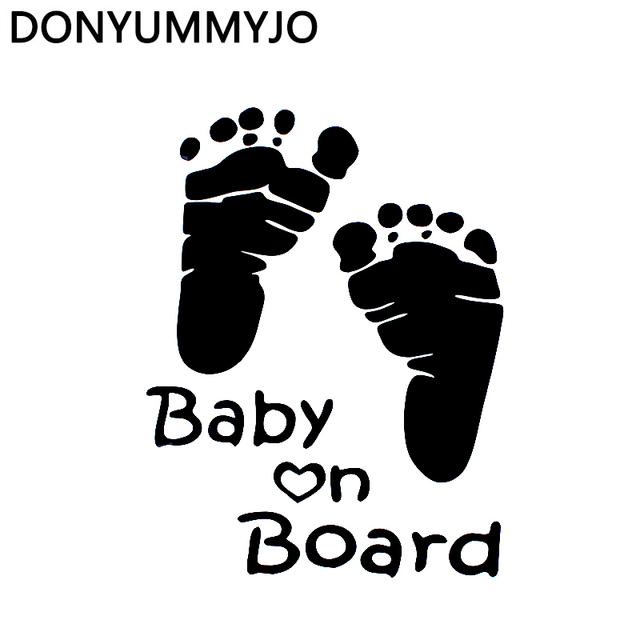 donyummyjo 13 10cm cute letter baby on board baby footprints