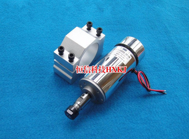 Free Shipping 300W Air coolded spindle motor 12-48V DC ER11 collect + 52mm Mount bracket fixture for PCB CNC Mahine