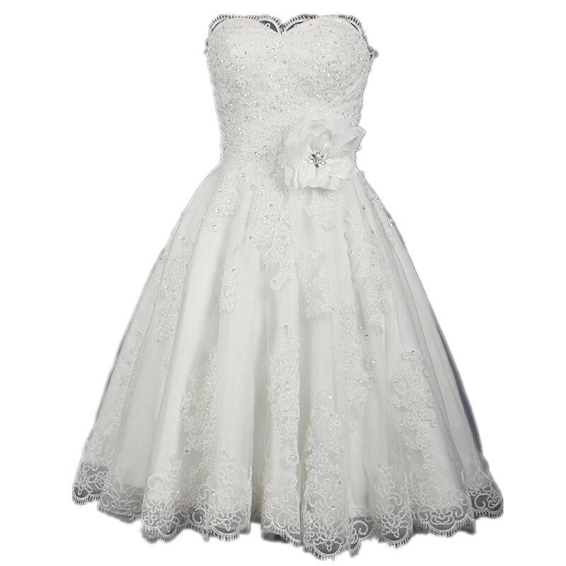 Sparkly Short Vintage Wedding Dresses 2017 Strapless