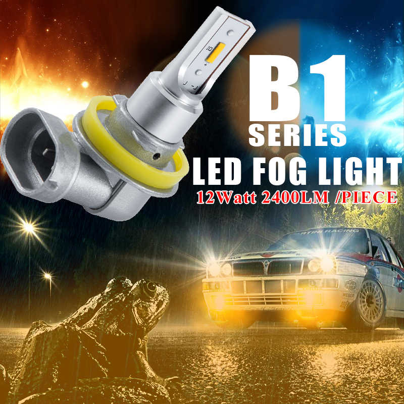 CNSUNNYLIGHT H11 H8 LED Car Bulbs Fog Light 9005 HB3 9006 HB4 2400Lm 6000K White 3000K Yellow H9 H16 High Power Auto DRL Foglamp