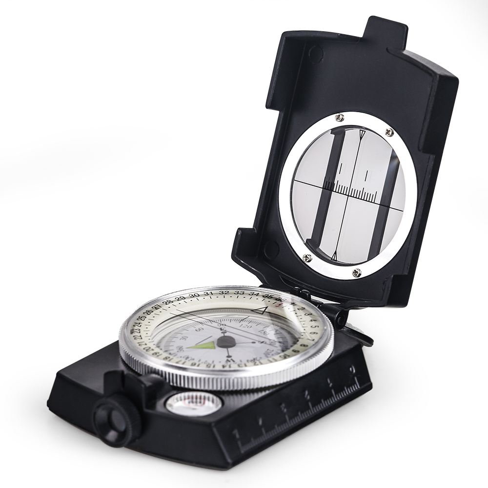 Military Lensatic Compass Survival Military Handheld Compass Hiking Outdoor Camping Equipment Compact Scale Black/Green hiking camping copper alloy compass golden page href